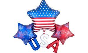 Patriotic USA Star Cluster Balloon