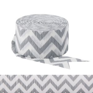 Silver Chevron Streamer