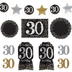 30th Birthday Room Decorating Kit 10pc - Sparkling Celebration