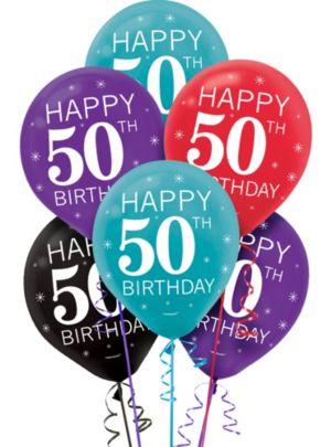 Celebrate 50th Birthday Balloons 15ct