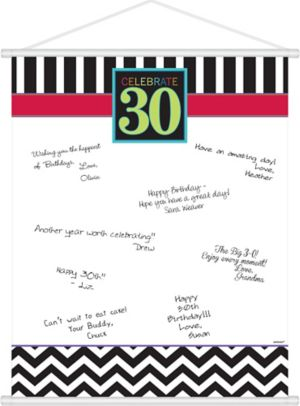 Celebrate 30th Birthday Sign-In Sheet