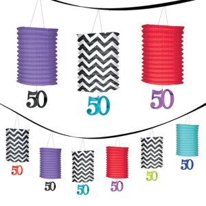 Celebrate 50th Birthday Lantern Garland