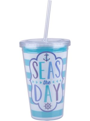 Seas the Day Double Wall Tumbler
