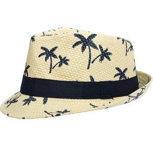 Palm Tree Straw Fedora
