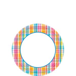 Sunny Plaid Dessert Plates 40ct