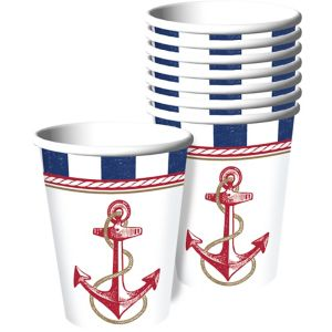 Striped Nautical Cups 8ct
