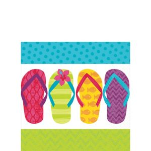 Bright Flip Flop Lunch Napkins 125ct