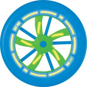Blue Glow Flying Disc
