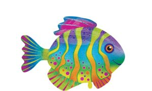 Prismatic Tropical Fish Balloon - Giant