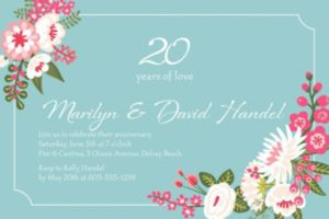 Custom Pretty Little Blossoms Invitation