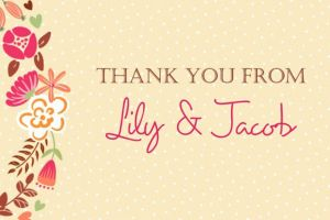 Custom Floral Wreath Thank You Note