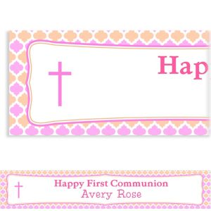 Custom Simple Cross and Diamonds Banner