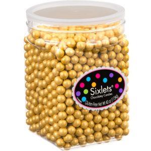 Gold Chocolate Sixlets 1330pc