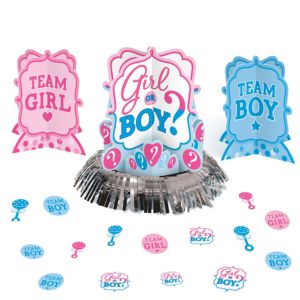 Girl or Boy Gender Reveal Table Decorating Kit 23pc