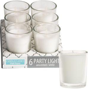 Mini White Votive Candles 6ct