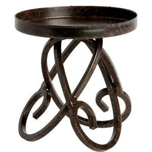 Scroll Pillar Candle Holder