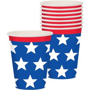 Red, White & Blue Stars Cups 18ct