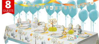 Boys Happi Woodland Party Supplies Super Party Kit