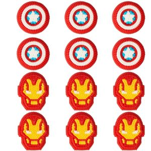 Wilton Avengers Icing Decorations 12ct