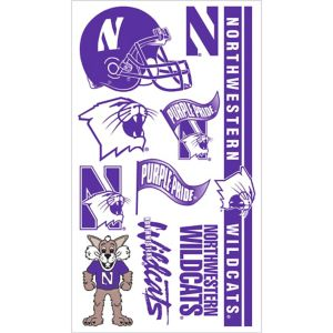 Northwestern Wildcats Tattoos 7ct