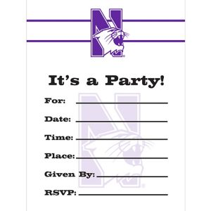 Northwestern Wildcats Invitations 8ct