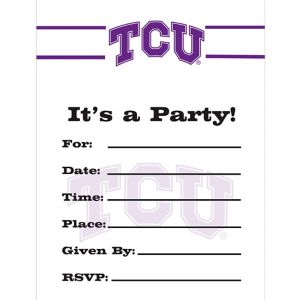 TCU Horned Frogs Invitations 8ct