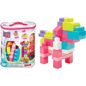 Pink Mega Bloks Big Building Bag Playset 80pc