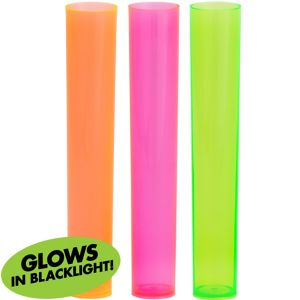 Black Light Neon Test Tube Shot Glasses 18ct