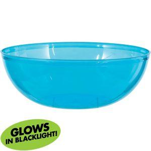 Black Light Neon Blue Plastic Bowl