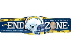San Diego Chargers End Zone Sign