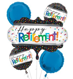 Happy Retirement Celebration Balloon Bouquet 5pc
