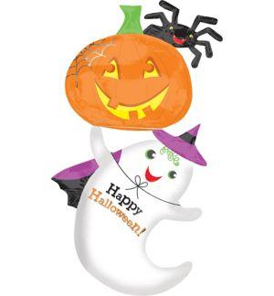Halloween Balloon - Giant Ghost & Jack-o'-Lantern