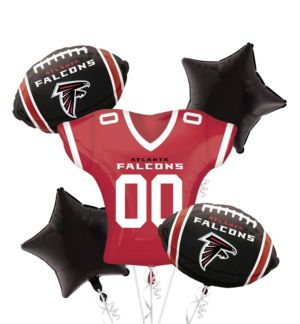 Atlanta Falcons Jersey Balloon Bouquet 5pc