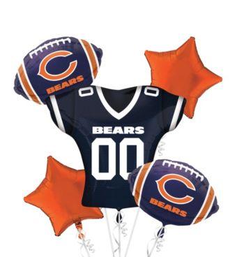 Chicago Bears Jersey Balloon Bouquet 5pc
