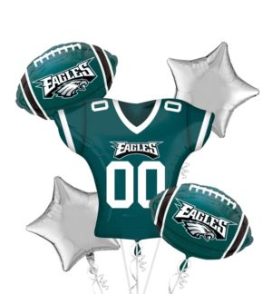 Philadelphia Eagles Jersey Balloon Bouquet 5pc