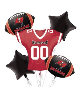 Tampa Bay Buccaneers Jersey Balloon Bouquet 5pc