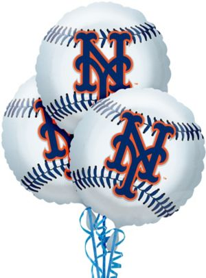 New York Mets Balloons 3ct - Baseball