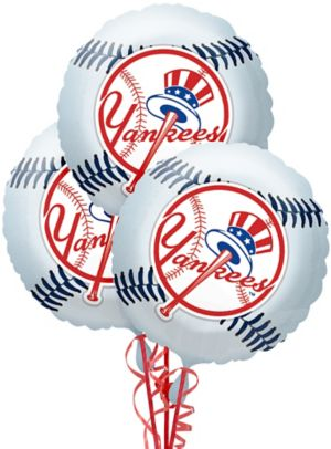 New York Yankees Balloons 3ct - Baseball