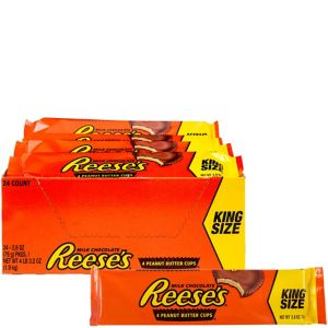 Milk Chocolate Reese's Peanut Butter Cups King Size Packs 24ct