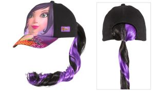 Child Mal Baseball Hat with Ponytail - Disney Descendants