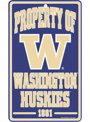 Property of Washington Huskies Sign