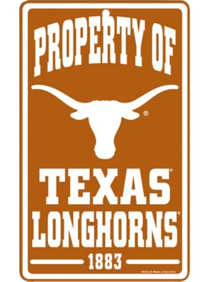 Property of Texas Longhorns Sign