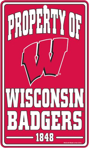 Property of Wisconsin Badgers Sign