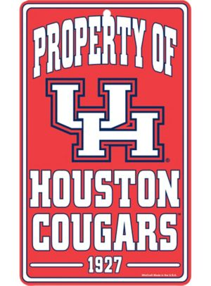 Property of Houston Cougars Sign
