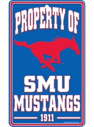 Property of SMU Mustangs Sign