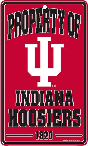 Property of Indiana Hoosiers Sign