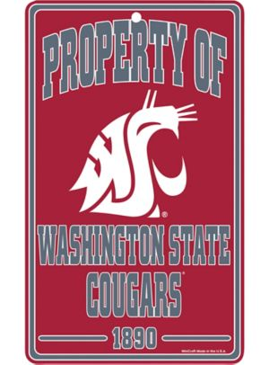 Property of Washington State Cougars Sign