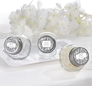 PERSONALIZED Wedding Glass Candy Jars (Printed Label) (25th Anniversary)