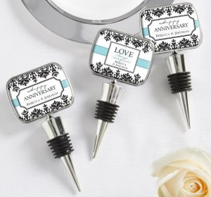 PERSONALIZED Wedding Bottle Stoppers (Printed Epoxy Label) (Always & Forever)
