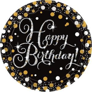 Prismatic Birthday Lunch Plates 8ct -Sparkling Celebration
